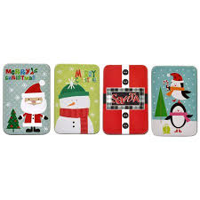 gift card tin christmas gift card tin holders set of 4 walmart