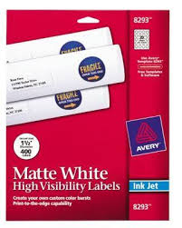avery 8293 white print to the edge mailing label 1 1 2