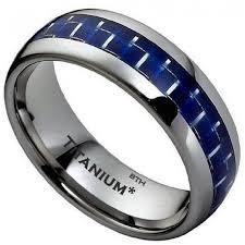 titanium men carbon inlay titanium classic mens wedding engagement ring