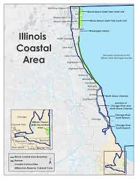 Illinois On A Map by Coastal Management Program