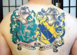 50 family crest tattoos for men proud heritage designs