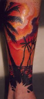 12 palm tree leg tattoos