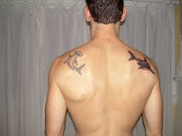 beautiful hammerhead shark upper back tattoo design tattoomagz