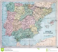 Spain Portugal Map by Antique Map Of Spain And Portugal Royalty Free Stock Photography