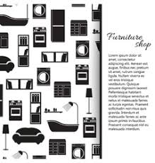 home interior vector home interior furniture background royalty free vector image