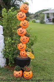 plastic pumpkins eclectic barn plastic pumpkins and a drapery rod