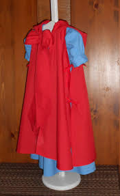 little red riding hood costume dress and cloak cosplay