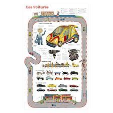poster pour enfant poster les voitures pour enfant de 3 ans à 7 ans oxybul éveil et