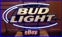 bud light light up sign vintage budweiser bud light beer oval light up neon sign and digital