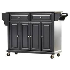 kitchen island black darby home co abbate kitchen island with solid black granite top