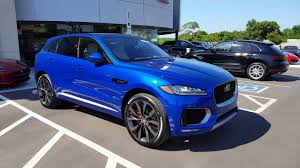 jaguar jeep inside blue first edition jaguar f pace suv youtube