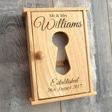 unique wedding present unique wedding gift personalised mr mrs wooden key cabinet