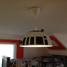 star wars inspired bedroom for 7 year old boy r2d2 pendant light