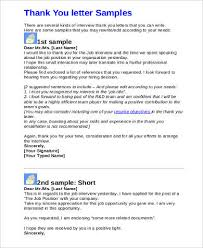 sample job interview thank you letter 9 examples in pdf word