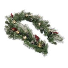 buy winter garland pre lit