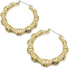 earring design style women s large bamboo fashion gold plated costume jewellery 7