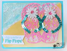 psycho moms scrapbooks love summer art flip flop card