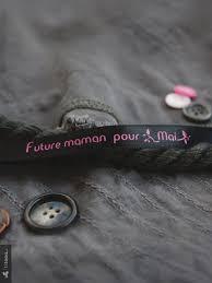 future maman bracelet de satin future maman pour mai