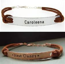 bracelet leather mens images Personalized daddy bracelet leather mens bracelet gift for him jpg