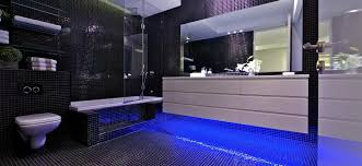 blue and black bathroom ideas luxurious lofted apartment design with indoor swimming pool ideas