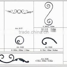 forged cast decorative wrought iron c s scrolls wrought iron metal