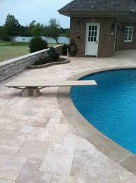 superb design ideas using round in ground pools and brown bricks