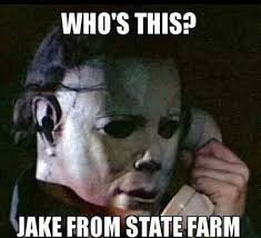 Jake State Farm Meme - funny halloween jake from state farm meme image