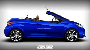 peugeot cabriolet supermini cabrio rendering collection corsa fiesta polo and