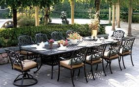 white cast aluminum patio chairs beautiful outdoor table and