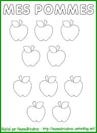 Pommier à remplir de Pommes à colorier  coloriage de pommier
