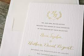 wedding invitations gold foil gold letterpress wedding invitations rustic gold foil and
