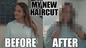 My New Haircut Meme - aubrie s new haircut friends and my reaction to my wife s new