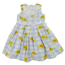 kids party wear printed flower cotton dresses for girls summer