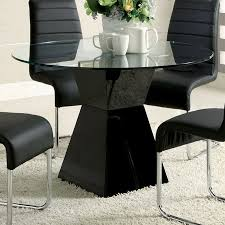 shop furniture of america mauna black round dining table at lowes com