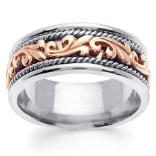 two tone wedding bands mens u0026 womens two tone gold rings goldenmine
