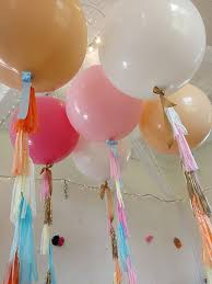 balloons in a box delivery 26 best balloon tassel tails images on confetti