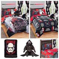 Star Wars Duvet Covers Amazon Com Disney Star Wars Kids Bed In A Bag Bedding Set W