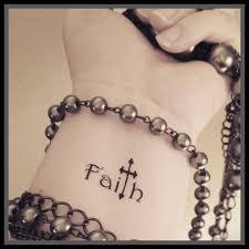 faith cross temporary religious word