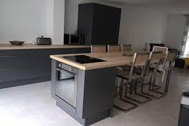 cuisine anthracite réalisations cuisine anthracite et chêne de cuisines avec socoo c