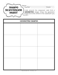 geometric and organic shape scavenger hunt elementary art game