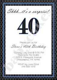 40th birthday invitations for him marialonghi com