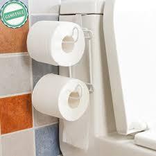 Bathroom Tissue Storage New Tank Toilet Tissue Paper Roll Holder Rack Steel Organizer
