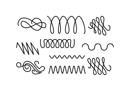 free line ornament set vector free vector stock