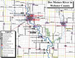 Iowa Map With Cities Des Moines River Water Trail Iowa Tourism Map Travel Guide
