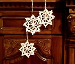 crochet ornaments white crochet snowflakes