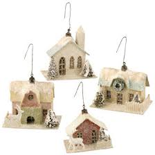 vintage paper house ornament for vintage