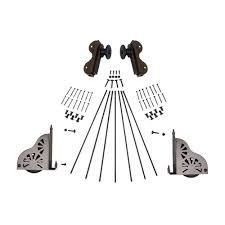 quiet glide black rolling hook ladder hardware kit qg50008 the