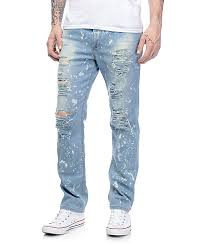 Mens Destroyed Skinny Jeans Ripped Jeans
