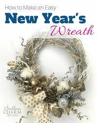 door wreaths to make an easy new year s door wreath