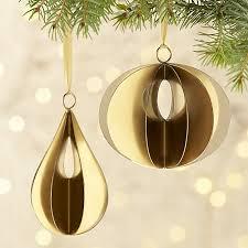 helix gold ornaments crate and barrel